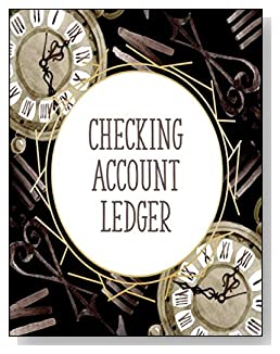 Clocks Checking Account Ledger - A beautiful book with wide lines to easily track all your checking account activity without having to write tiny and cram everything into those little check register booklets.