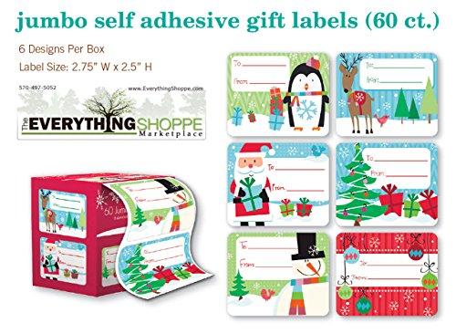 Christmas Name Tags: Christmas Gift Tags Holiday Present Name Tags Stickers