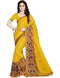 Ishin Faux Georgette Yellow Floral Design Printed Party Wear Wedding Wear Bollywood New Collection Latest Design...