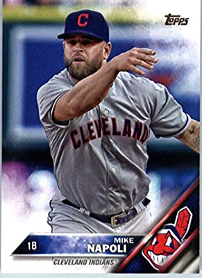 2016 Topps Series 2 #595 Mike Napoli Cleveland Indians Baseball Card