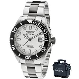 Invicta Men's 10498 Pro Diver Automatic White Dial Two Tone Stainless Steel Watch