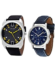 Asgard Trendy Analog Blue Dial Watches For Men - Set Of 2