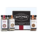 Urban Accents BUTCHER SHOP, A Gourmet Grilling Rub Trio of Spices Gift Set, Perfect for Weddings, Housewarmings or Any Occasion