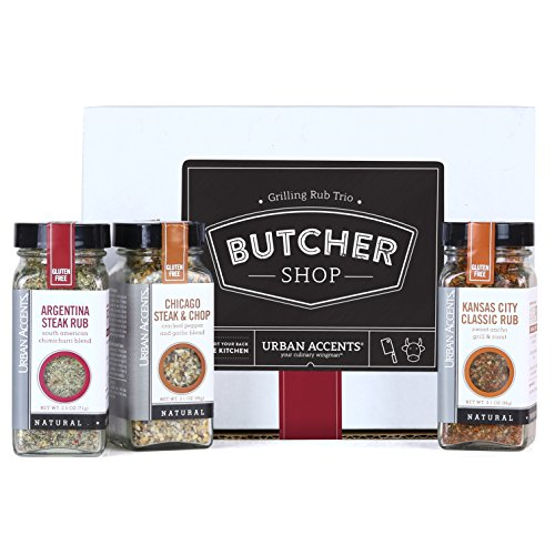 Urban Accents BUTCHER SHOP, A Gourmet Grilling Rub Trio of Spices Gift Set, Perfect for Weddings, Housewarmings or Any Occasion (Dry Meat Rubs compare prices)