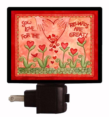 Valentines Day Night Light - Sow Love - Heart