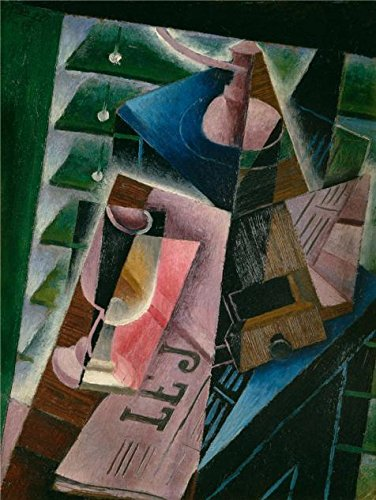 Oil Painting 'Juan Gris,Coffee Grinder And Glass,1915', 8 x 11 inch / 20 x 27 cm , on High Definition HD canvas prints is for Gifts And Bar, Basement And Study Room Decoration, (Cute Clown Costumes For Tweens)