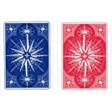 Gemaco Star Poker Index Cards, Red/Blue, Regular