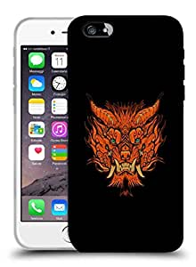 Snoogg Orange Monster Face Designer Protective Back Case Cover For IPHONE 6 PLUS
