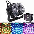 SOLMORE Mini RGB LED Stage Lighting Party Disco Club DJ Light Crystal Magic Ball Effect,UK Plug