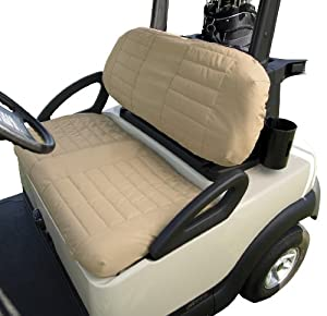 Classic Accessories Fairway Golf Cart Padded Seat Cover, Sand by Classic Accessories
