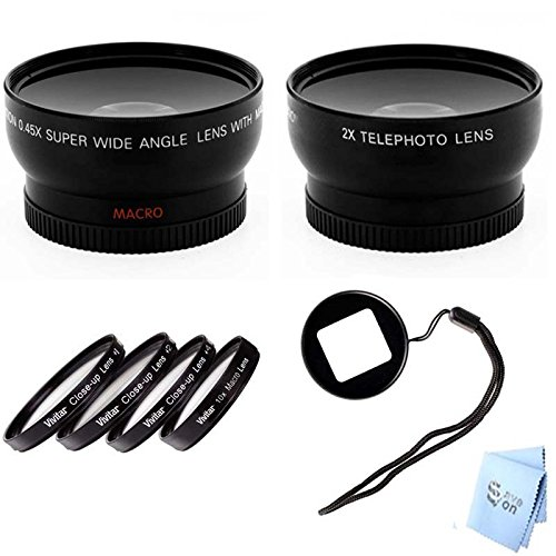 Gopro Hero3 And Hero3+ Wideangle & Telephoto Lens, Macro Kit With Lens Filter Adapter