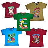 Pushpak Readymades Children's Cool T-Sirts (Pack of 5)