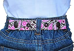 Dapper Snapper Baby & Toddler Adjustable Cinch Belts ~ Many Colors (Pink Paisley)
