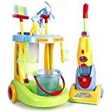 "Cp Toys Kid Sized ""Little Helper"" Cleaning Trolley / 12 Piece Set For Pretend Play"