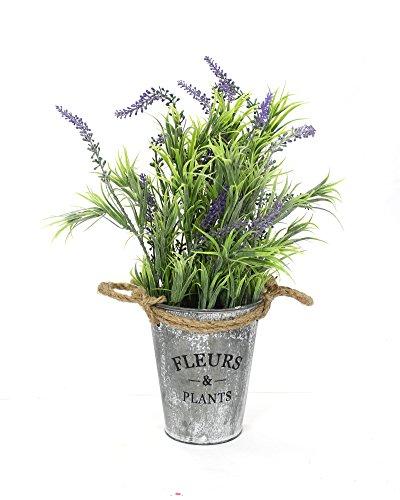 Kunstpflanze-Lavendel-mit-Topf