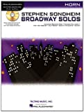 Sondheim Broadway Solos Horn Book/CD Play-Along (Stephen Sondheim - Broadway Solos)