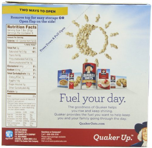 Quaker Caramel Nut Chewy Dipps Granola Bars,1.09 oz bars 6 Bars per ...