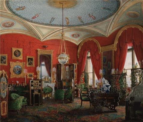 oil-painting-hau-edward-petrovichinteriors-of-the-winter-palacethe-study-of-empress-alexandra-fyodor