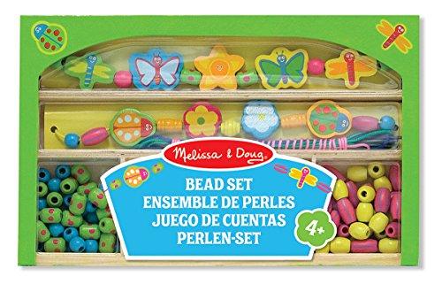 Melissa & Doug Gleeful Garden Wooden Bead Set