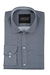 ROGUE URBAN WEAR Men's Formal Shirt (ROGSP31BLACK_WP_M, Black, Medium)