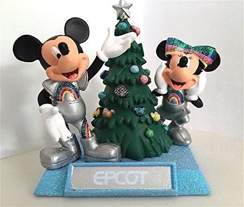 walt-disney-world-parks-mickey-and-minnie-mouse-epcot-figurine-ornament-new-by-disney