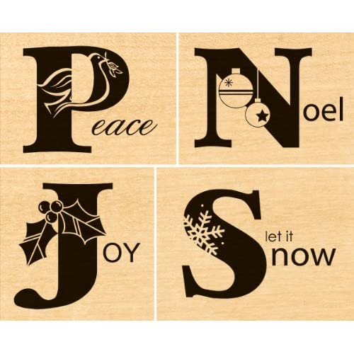 Penny Black Rubber Stamp Set 3.5X4 It Spells Merry Christmas