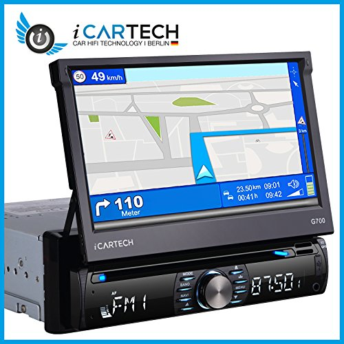 icartech g700 1 din autoradio gps navigation. Black Bedroom Furniture Sets. Home Design Ideas