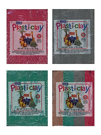 Plast-i-Clay Modeling Clay red [PACK OF 4 ] масса для лепки candy clay набор круассан
