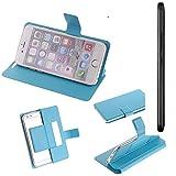 Flipcover Schutz Hülle für Medion X5520, blau (hellblau)