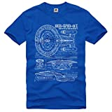 Style3 NC-1701-D Blueprint Mens T-Shirt trek trekkie star roddenberry enterprise scifi