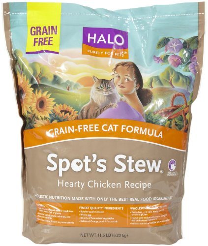 Halo Spots Stew Grain Free Chicken Dry Cat Food