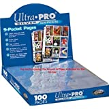 Trading Card A4 Sleeves - 25 Ultra Pro 9 Pocket Pages MTG/Pokemon.