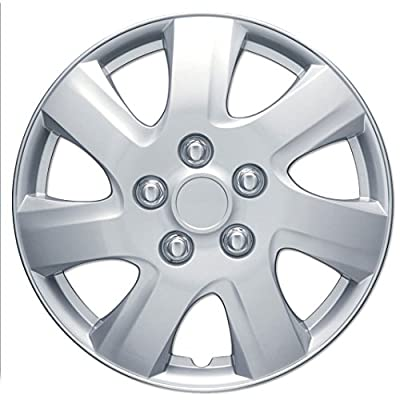 "2010 - 2011 Toyota Camry Silver 16"" Clip On Hubcaps - Premium Set of 4"