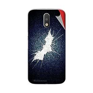 Miicreations Mobile Skin Sticker For Motorola Moto G4 Plus,Batman