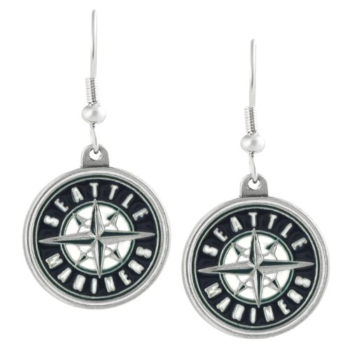 Silvertone Major League Baseball Seattle Mariners Dangle Earrings at Amazon.com