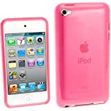 iGadgitz Pink Durable Crystal Gel Skin Case Cover (Thermoplastic Polyurethane TPU) for Apple iPod Touch 4th Generation 8gb, 32gb, 64gb + Screen Protector