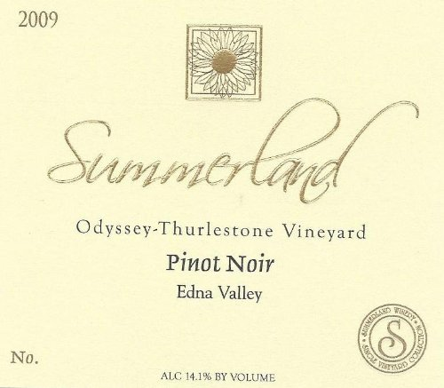 2009 Summerland Winery Odyssey-Thurlestone Vineyard Pinot Noir Edna Valley 750 Ml