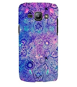 ColourCraft Floral Pattern Design Back Case Cover for SAMSUNG GALAXY J1