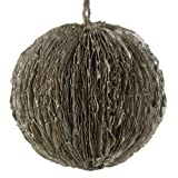 RAZ Imports - Champagne Glittered Leaf Ball Ornament 5.5