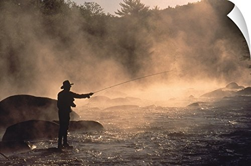 Fly-fishing on Contoocook River in Henniker, New Hampshire