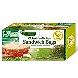 Green N Pack Eco Friendly Zipper Sandwich Bag,Sandwich Size, 100-Count