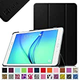 Fintie Samsung Galaxy Tab A 9.7 Smart Shell Case - Ultra Slim Lightweight Stand Cover with Auto Sleep/Wake Feature for Tab A 9.7-Inch Tablet SM-T550, SM-P550 (With S Pen Version), Black