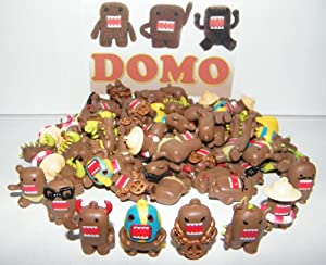 Domo Figure Charms Toy Mega Collection of 100 Featuring 8 Fun Domo Characters Including Devil Domo, Bling Domo and Godzilla Domo