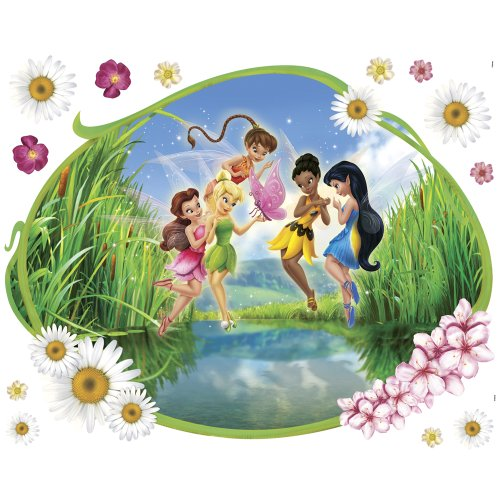 Blue Mountain Wallcoverings DMM2540 Fairies Glitter Mini Mural, Clam Shell