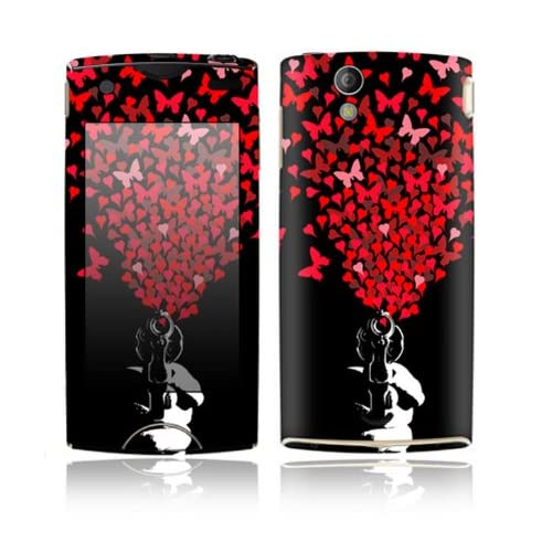The Love Gun Design Decorative Skin Cover Decal Sticker for Sony Ericsson Xperia Ray Cell Phone