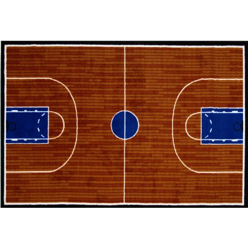 Basketball Court Area Rug 39