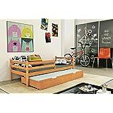 Kinderbett Funktionsbett Schubladenbett ERYK 2 Farbe: Erle 185/80cm + Lattenrost + Matratze inkl.