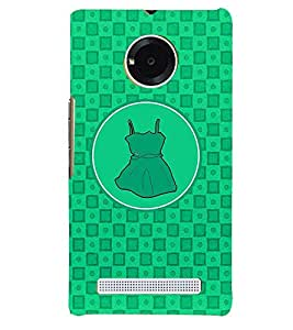 PRINTVISA Abstract Green Frock Case Cover for YU Yunique