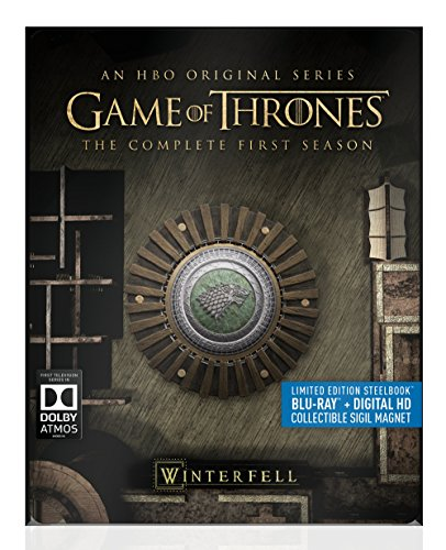 Blu-ray : Game of Thrones: The Complete First Season (Full Frame, Steelbook, , Digitally Mastered in HD, 5 Disc)
