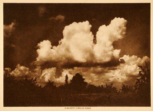 1916-photogravure-cumulus-cloud-sky-meteorology-precipitation-rainfall-landscape-original-photogravu